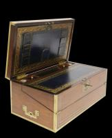 Superb 19th Century Gentleman's Brass Mounted Campaign Writing Box