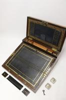 Superb 19th Century Gentleman's Brass Mounted Campaign Writing Box (16 of 29)