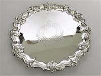 Fabulous Victorian Cast Silver Salver (3 of 8)
