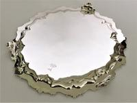 Fabulous Victorian Cast Silver Salver (6 of 8)