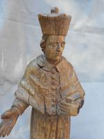 18th Century Wooden Carving of a Cardinal (4 of 5)