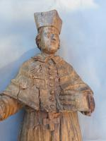 18th Century Wooden Carving of a Cardinal (2 of 5)
