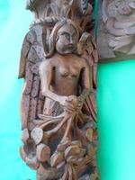 17th Century Carved Wooden Fireplace (2 of 8)