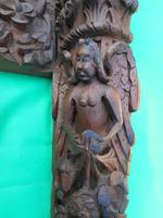 17th Century Carved Wooden Fireplace (4 of 8)