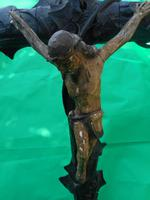 Large Carved Wooden Crucifix (2 of 6)