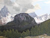 A View of the Dolomites - Canada by Geoffrey Spink Bagley