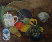 Still Life with Teapot by Margaret Harmsworth