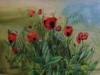 The Poppy Field by Joan Warburton
