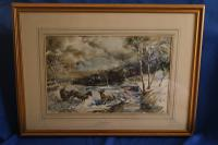 Sheep in a Winter Landscape by Edward Seago (2 of 10)