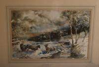Sheep in a Winter Landscape by Edward Seago (3 of 10)