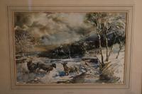 Sheep in a Winter Landscape by Edward Seago (4 of 10)