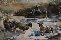 Sheep in a Winter Landscape by Edward Seago (6 of 10)