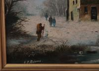 Figures in a Winter Landscape by G J Adema (6 of 6)