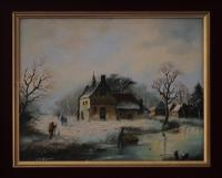 Figures in a Winter Landscape by G J Adema (2 of 6)