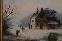 Figures in a Winter Landscape by G J Adema (4 of 6)
