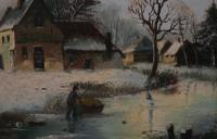 Figures in a Winter Landscape by G J Adema (5 of 6)