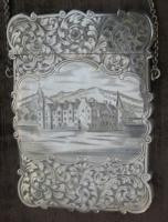 """Nathaniel Mills - """"Castle-Top"""" Silver Card Case"""