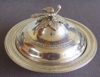 Egyptian Silver Circular Dish & Cover