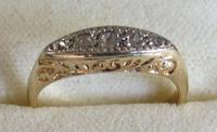 Edwardian 5-Stone Diamond 18ct Gold Ring  - Size K