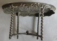 19th Century Silver Miniature / Doll's Table & Two-Chair Set (5 of 10)