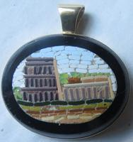 Grand Tour Micromosaic Gold Pendant of the Colosseum C.1850