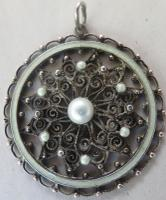 Marius Hammer - Fine Norwegian 19th Century Enamel & Solje Silver-Gilt Pendant