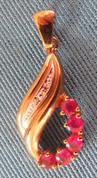 Vintage Ruby & Diamond Gold Pendant - ca 1980 (4 of 4)