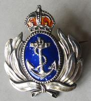WWII Silver & Enamel Naval Sweetheart Pin - Possibly Canadian