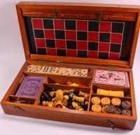 Edwardian Games Compendium in Mahogany Box