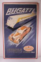 Original Art Deco Bugatti Advertising Poster