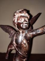 C.1510 A.D German Renaissance Bronze Winged Angel Candleholder (6 of 13)