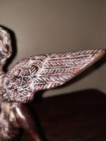 C.1510 A.D German Renaissance Bronze Winged Angel Candleholder (12 of 13)