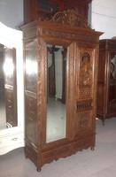 Carved French Breton Armoire c.1900