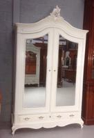Large Painted French Armoire c.1900
