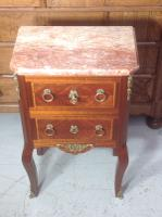 French Marble Top Inlaid Chest (12 of 12)