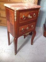 French Marble Top Inlaid Chest (5 of 12)