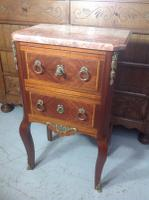 French Marble Top Inlaid Chest (2 of 12)