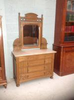 Arts & Crafts French Oak Dressing Table