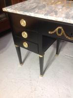 French Ebonised Kneehole Desk (3 of 13)