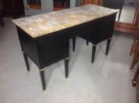 French Ebonised Kneehole Desk (11 of 13)