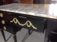 French Ebonised Kneehole Desk (8 of 13)