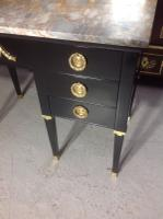 French Ebonised Kneehole Desk (4 of 13)