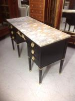 French Ebonised Kneehole Desk (9 of 13)