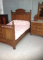 Arts & Crafts French Oak Bed (4 of 30)