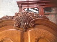 French Oak Carved Armoire (11 of 14)