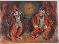 Morris Kestelman Clowns Pastel 1937