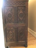 Excellent 17th Century Shropshire Hand Carved English Oak Court Cupboard (4 of 7)