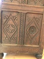 Excellent 17th Century Shropshire Hand Carved English Oak Court Cupboard (6 of 7)
