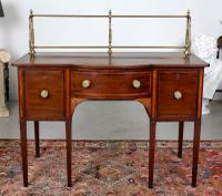 Antique Regency Sideboard Credenza Brass Mahogany