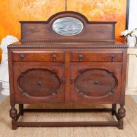 Antique Oak Sideboard Arts & Crafts Credenza 19th Century Cabinet